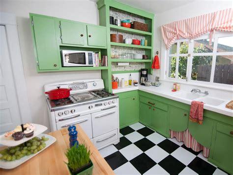 vintage green kitchen cottage style hgtv