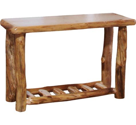 sofa table with drawer aspen log sofa table with drawer rustic log furniture of