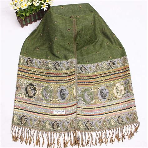 Breanna Scarfpashmina 2 aliexpress buy sale classic green shawl s reversible two pashmina scarf