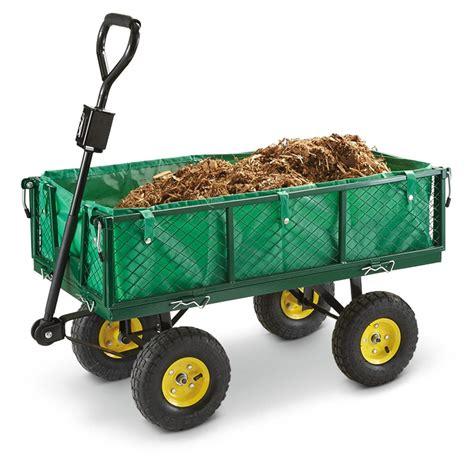 Garden Carts by Castlecreek 700 Lb Garden Cart With Liner 562250 Yard