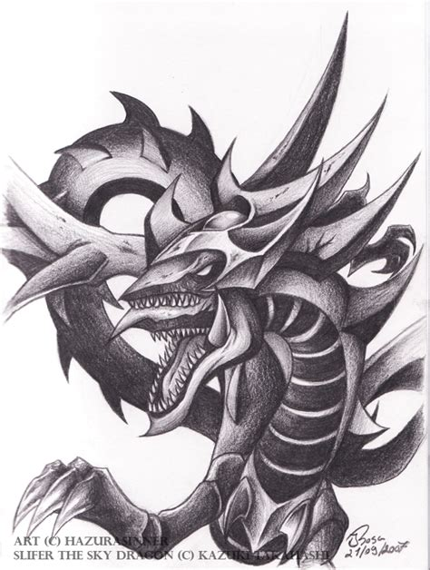 ygo slifer the sky dragon by hazurasinner on deviantart