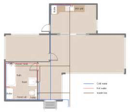 House Layout Drawing plumbing and piping plan window casement towel rail toilet