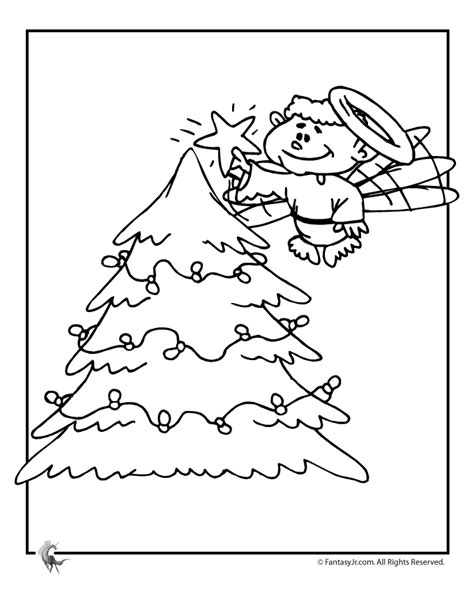blank christmas tree coloring pages