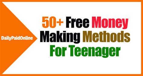 50 Ways To Make Money Online - 50 ways to make money online for teenager real online jobs