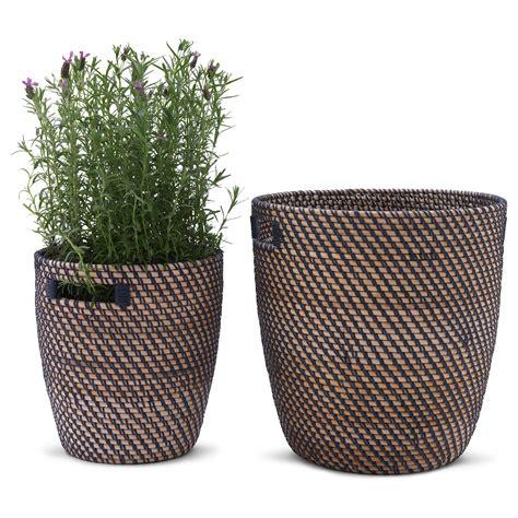 ikea plant pots r 197 gkorn plant pot rattan 24 cm ikea