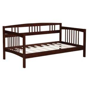 Espresso Wood Bed Frame Axon Size Solid Wood Day Bed Frame In Espresso Finish