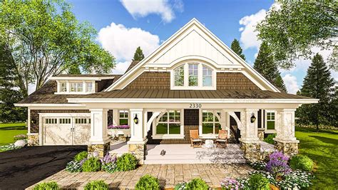 house plans with large porches craftsman house plan with two large porches 14655rk architectural designs house plans