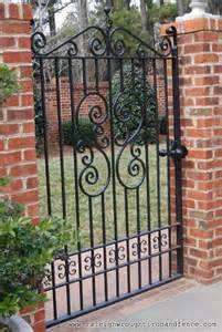 Decorative Iron Gates by Raleigh Wrought Iron And Fence Co Custom Wrought Iron