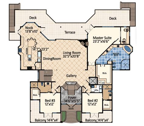 dream floor plans ocean dream house plan 31809dn architectural designs
