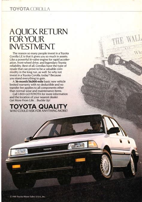 toyota national 1989 toyota corolla le ad from national geographic march