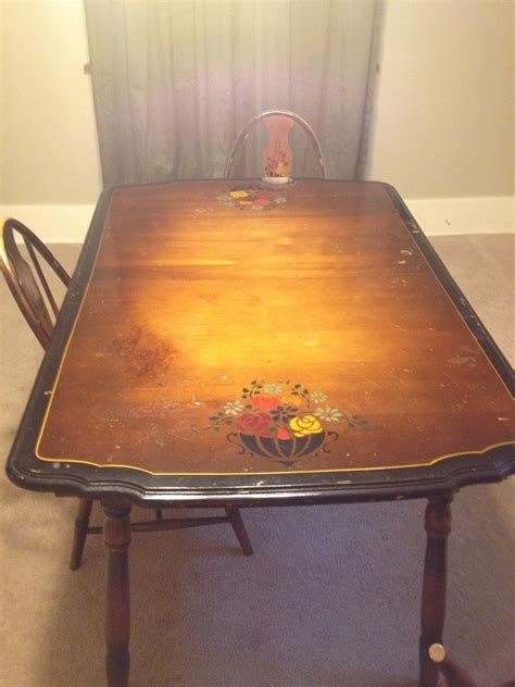 watertown table slide company table with leaf six chairs