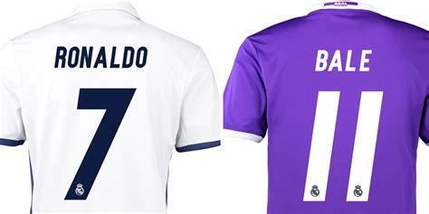 Baju Bola Ronaldo font modern di jersey real madrid 2016 17 bola net