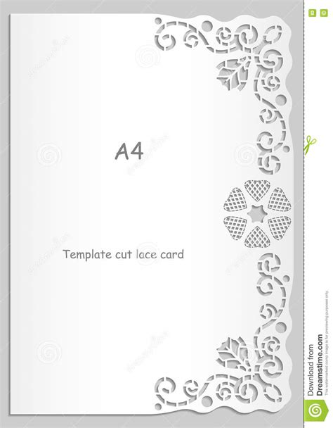 card template to send out paper lace greeting card white pattern lace decorations