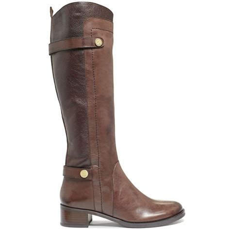 boots s franco sarto cymbols boots in brown banana bread lyst