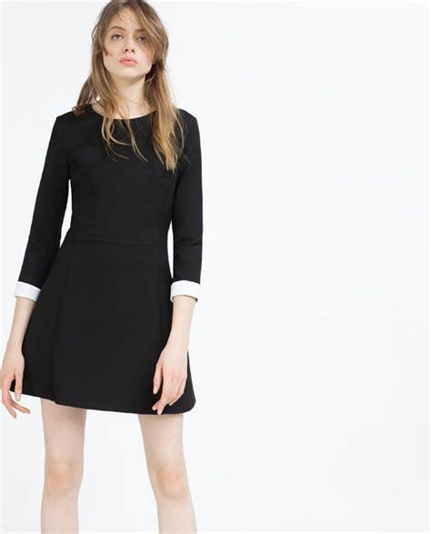 Classic Bodycone Dress Minimal dress with white cuffs clothes