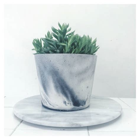 black and white planters white and black marbled cement planters by sort cement notonthehighstreet