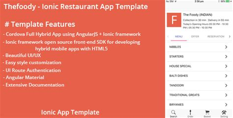 thefoody ionic restaurant app template jogjafile