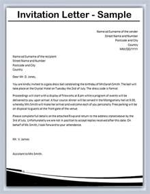 how to write an invitation letter sles