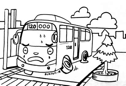 Tayo Kecil Besar karikaturku indonesia mewarnai gambar tayo yang malang