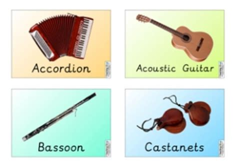 instruments teaching ideas
