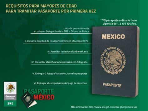requisitos para el pasaporte mexicano 2016 191 cu 225 les son los requisitos para renovar el pasaporte