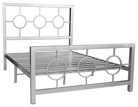 Contemporary Metal Bed Frames Eternity Metal Bed Frame Circle Design Contemporary Panel Beds By Home Source Industries