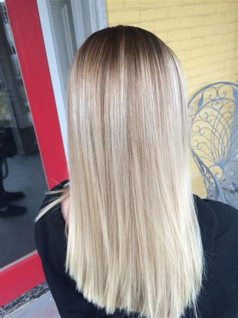 www layering strech long hair com blonde stretched root hair and makeup pinterest