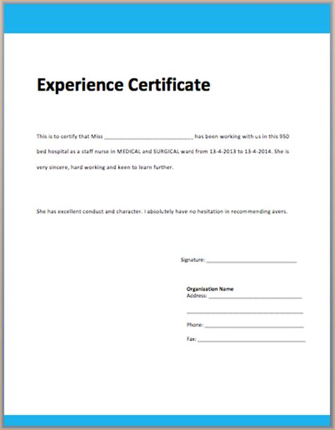 Work Experience Letter Of Accountant Accounting Experience Certificate Business Templated Business Templated
