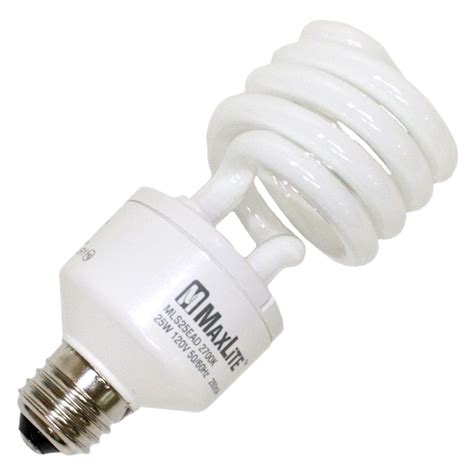 dimmable cfl light bulbs maxlite 01104 mls25eadww dimmable compact fluorescent