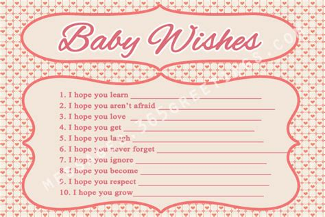 baby shower wish list template and free baby shower 365greetings