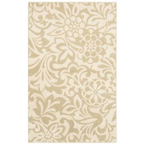 home depot mohawk area rugs mohawk home simpatico biscuit starch 8 ft x 10 ft area rug 301293 the home depot