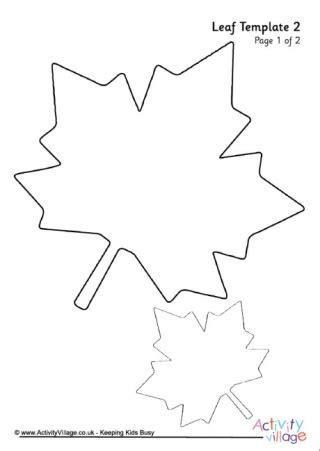 Leaf Template 4 Fall Leaf Template Printable