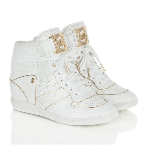 cool white sneakers michael kors wedge sneakers gold white cool white