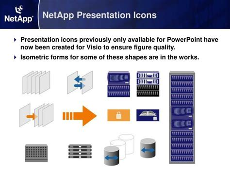 visio shapes in powerpoint ppt guided tour netapp visio library powerpoint
