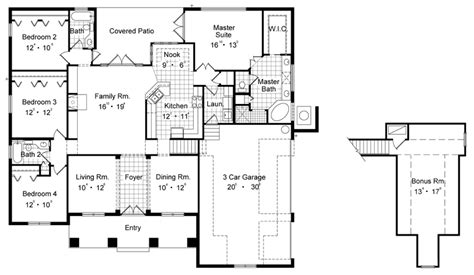 lenox floor plan lenox 6420 4 bedrooms and 3 5 baths the house designers