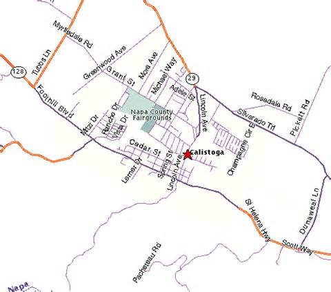 map of calistoga napa valley california