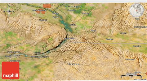 3d map of oregon satellite 3d map of hermiston