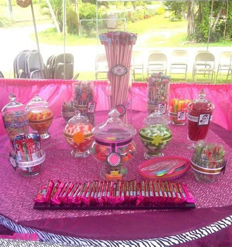 Easy And Cheap Candy Buffet Zebra And Pink Party Cheap Candies For Buffet