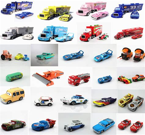 Cars Figure 14pc Disney Pixar Figure Toys Mobil Mainan disney pixar cars cars1 cars 2 diecast 1 55 number
