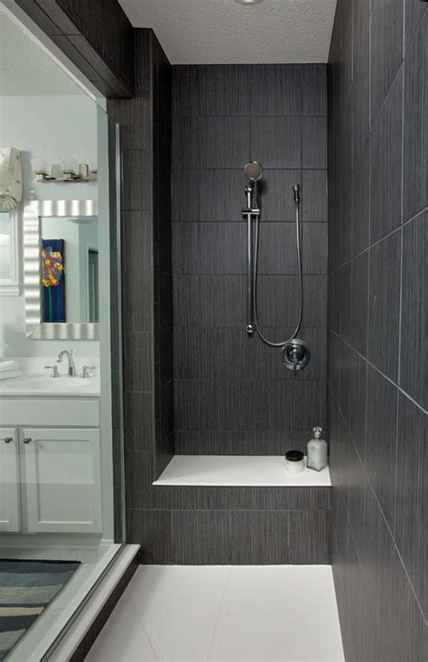 Walk In Shower Ideas For Bathrooms best 25 dark gray bathroom ideas on pinterest gray and