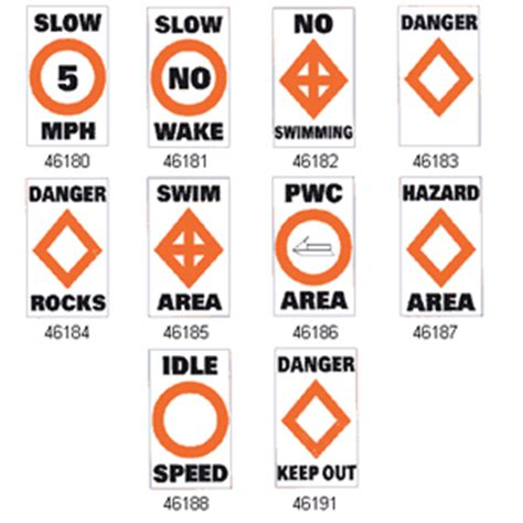 boating signs and buoys taylor made regulatory buoy labels