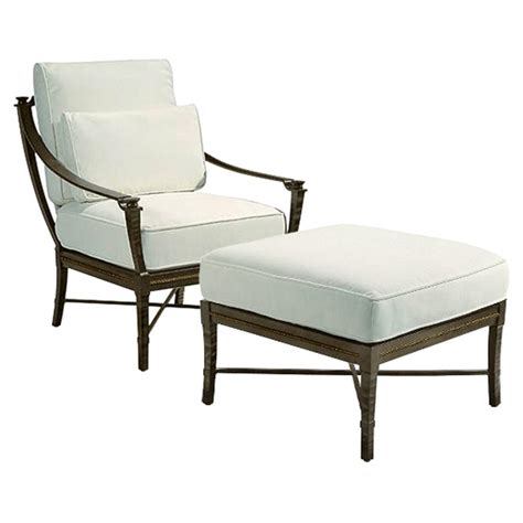 garden ottoman jane modern french metal white outdoor ottoman 26 5