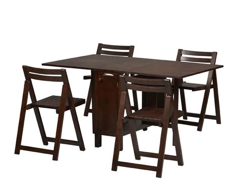 Space Saver Dining Set Table Four Chairs Linon Space Saver Dining Set With Table And 4 Chairs By Oj Commerce 901weng 404 99