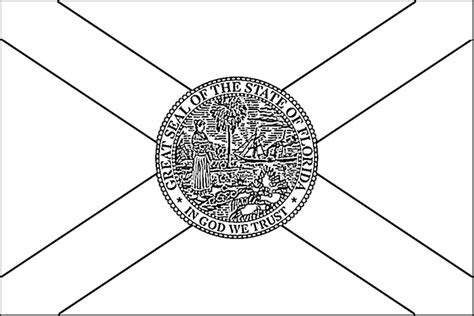 florida flag coloring sheet coloring pages