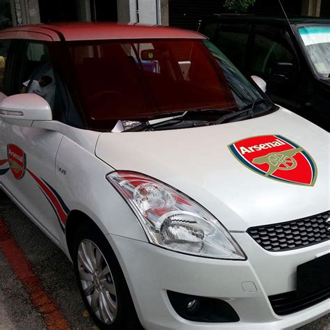 Car Sticker India by Arsenal Car Sticker Buy Arsenal Car Sticker Online In