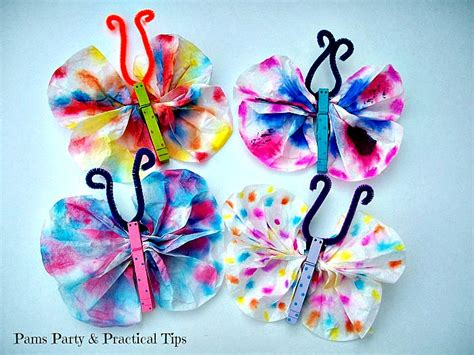 Coffee Filter Paper Crafts - butterfly crafts with coffee filters other butterfly