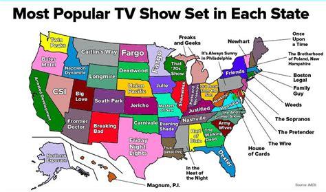 most popular tv shows myideasbedroom com the most popular tv show set in each state in one