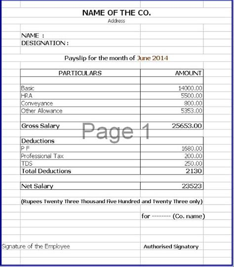 template for a payslip excellent payslip template sle in excel format with