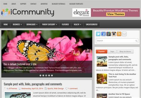 free blogger themes one column icommunity 2 columns blogger template 2015 free themes