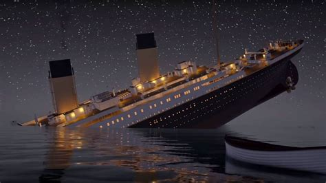 titanic boat real watch this virtual titanic sink in real time the drive